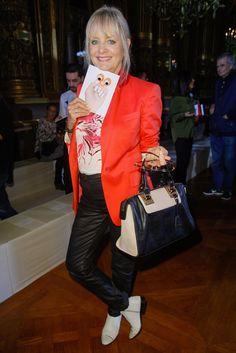 Stella McCartney Spring 2014 Ready-to-Wear Front Row Celebrity Photos - Twiggy