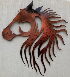 Beautiful Horse Head Wall Art by MissMetalWorx on Etsy