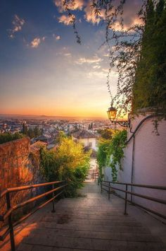 Stairway, Granada, Spain