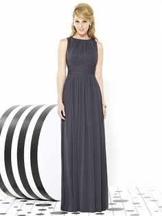 I love this stormy color and the shape! :)  After Six Bridesmaids Style 6709 http://www.dessy.com/dresses/bridesmaid/6709/#.VMeXqmjF98E