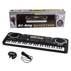 Kids Keyboard Piano 61 Keys Multi-function Electronic Music Microphone 2+ Years #KidsKeyboardPiano