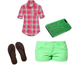 """""""Hollister shirtt & shortts ."""" by paigerrs99 on Polyvore"""