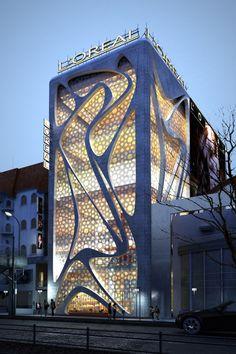 Nova L' Oreal Office Building por IAMZ Design Studio, arquitetura moderna de Estocolmo, Suécia