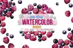 Watercolor Hand-Painted Berries by Pro.Motion on @creativemarket Perfect graphic for DIY projects, cards, wedding invitations, greeting cards, identity, packaging design, cases, photos, posters, bags, wallart, logos, quotes, blogs and more. RASPBERRIES, BLACKCURRANT, FRESH, SUMMER, BERRY, BERRIES, CLIPART, INVITATION, CLIPART, DIY, INVITE, WATERCOLOR, PNG, DISCOUNT, FOREST, TEMPLATE, PINK, WATERCOLOR, CLIPART, UNIQUE, PROJECTS, CARDS, WEDDING, INVITATIONS, GREETING, CARDS, IDENTITY