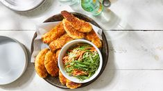 Buttermilk Fried Chicken Tenders with Snap Pea Slaw Buttermilk Fried Chicken Tenders, 400 Calorie Dinner, Best Instant Pot Recipe, Cooking Recipes, Healthy Recipes, The Fresh, Dinner Recipes, Dinner Ideas, Chicken Recipes