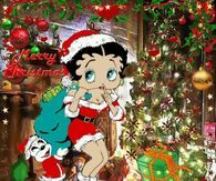 Betty Boop Merry Christmas Picture