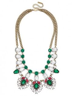Crystal Feather Bib - PERFECT CHRISTMAS NECKLACE!
