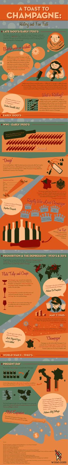 A Toast to Champagne: History an Fun Facts #Infographic