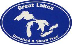 Sticker Unsalted & Shark Free