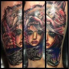 Tattoo by mark stewart of four aces tattoo in aldinga beach south
