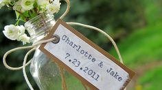 Unique Wedding Favor - Bride & Groom Names w/ Wedding Date by joblake, $3.80