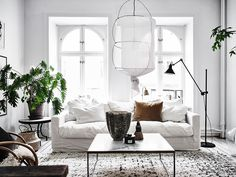 Scandinavian apartment with bohemian vibes