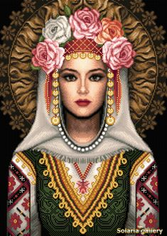 Bulgarian Girl by Solaria Gallery - Cross Stitch pattern