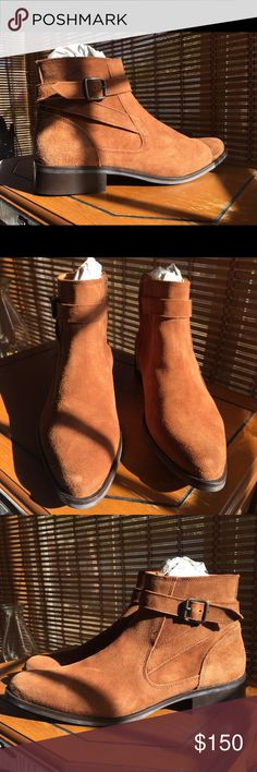 Men's tan Chelsea boots 10usa 8uk Brand new men ASOS tan Chelsea boots with strap.  Real leather/Suede size 10usa 8uk. Only wore to try on. They've just been sitting in my closet ASOS Shoes Boots