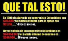 Estos son los verdaderos bandidos del País ! La política Colombiana es peor que la guerrilla y las Bacrim y el narcotráfico ! Nos roban de frente y lo peor : Los Colombianos no dejamos robar de frente ! Políticos Ladrones !!