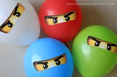 Ninjago Balloon Stickers - Free Silhouette Print and Cut .studio File - cut on the Silhouette Cameo