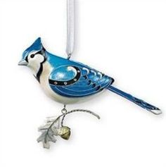 2007 Blue Jay - Third in Series, Beauty of Birds: Hallmark Christmas Ornaments, Baby First Christmas Ornament, Bird Ornaments, Christmas Holidays, Christmas Decorations, Holiday Decor, Early Christian, Blue Jay, Tree Toppers