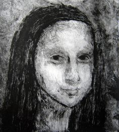 Mona Lisa Drypoint Print by Faith, Year 10, on the art room's new Printing Press