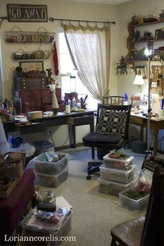 Spotted Hare: New beginnings . Sewing Spaces, Sewing Rooms, Sewing Room Organization, Organizing Ideas, Craft Room Closet, Old Post Office, Quilting Room, Sewing Studio, My Escape