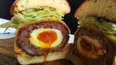 Scotch Egg Burger, Ledlow, LA - Great New Burgers to Try Around LA - Zagat