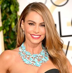 Sofía Vergara flaunts her pearly whites at the 2014 Golden Globe Awards. Find out how she and more celebs keep their teeth so white!