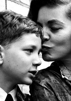 arsivist:  Lauren Bacall with her son Stephen Bogart