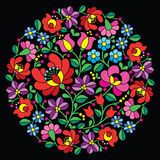 Kalocsai Red Embroidery - Hungarian Round Floral Folk Pattern - Download From Over 54 Million High Quality Stock Photos, Images, Vectors. Sign up for FREE today. Image: 51657630