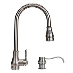 Dyconn Brushed Nickel 18-inch Lever Handle Faucet - Overstock™ Shopping - Great Deals on Dyconn Faucet Kitchen Faucets $104.39