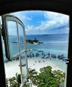 View form Lengkuas Island's Lighthouse, Belitung