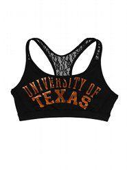 Victoria's Secret PINK University of Texas Lace Yoga Bra I want 10 of these! Texas Longhorns Football, Ut Longhorns, Cheerleading Workouts, Texas Pride, University Of Texas, Disney Beauty And The Beast, Yoga Bra, Victoria Secret, Arm