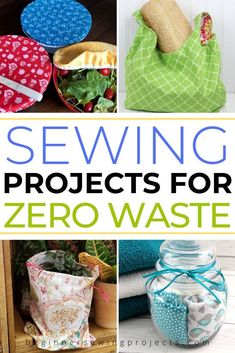 Zero Waste Sewing Projects - Sewing tutorials that contribute to a zero waste lifestyle. These projects are perfect for beginners and easy to swap for single use items on a daily basis. They save money too! Source by beginnersewingprojects - Small Sewing Projects, Sewing Projects For Beginners, Knitting For Beginners, Sewing Hacks, Sewing Tutorials, Sewing Tips, Fabric Crafts, Sewing Crafts, Diy Crafts