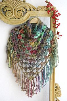 Crochet shawl, Crochet scarf, Fringe boho scarf, Shoulder wrap, Crochet poncho, Bulky crochet scarf, Boho scarf, Triangle  scarf by MarryGKnitCrochet on Etsy