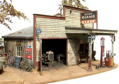 https://flic.kr/p/oAkTh | 1/48th scale country gas station | Rural service in miniature (O scale)