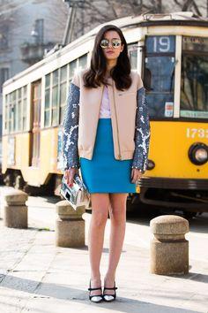 d2961dbfdfa Streetlooks à la Fashion Week automne-hiver 2014-2015 de Milan GalmourParis  Automne Hiver