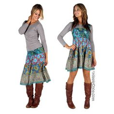 Cotton Voile Tunic Skirt on Sale for $27.95 at HippieShop.com
