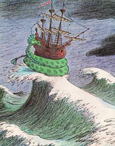 Cyrus the Unsinkable Sea Serpent by my vintage book collection (in blog form), via Flickr