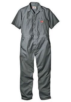 NEW-DICKIES-33999BK-S-S-COVERALLS-SHORT-SLEEVE-MENS-BLACK-NAVY-GREY-RED-KHAKI