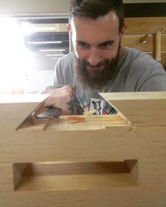 A photo of Sim @simeondux that I took last year during the Roubo workbench intensive. #woodwork #madeinmelbourne #handmade de m.g.f.woodworking