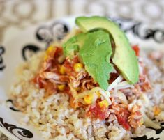 {Salsa Chicken and Brown Rice}