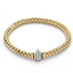 FOPE Bracelet Wild Rose Yellow Gold And Diamond   C W Sellors Fine Jewellery and Luxury Watches