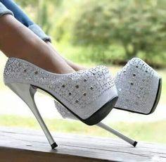 shoes white white heels white high heels heels high heels white shoes diamonds p. Dream Shoes, Crazy Shoes, Me Too Shoes, Prom Heels, Pumps Heels, Stiletto Heels, Platform Stilettos, Shoes Sandals, Sparkly Heels