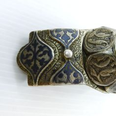 A rare and beautiful, antique Russian solid silver belt buckle  Antique Russian silver 84 stamped, hallmarked E. b, and dated 1879.