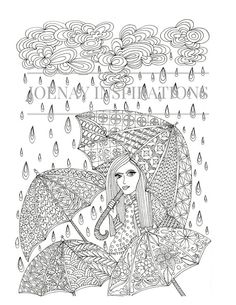 Adult Coloring Book, Printable Coloring Pages, Coloring Pages, Coloring Book for Adults, Instant Download, Faces of the World 1 page 10