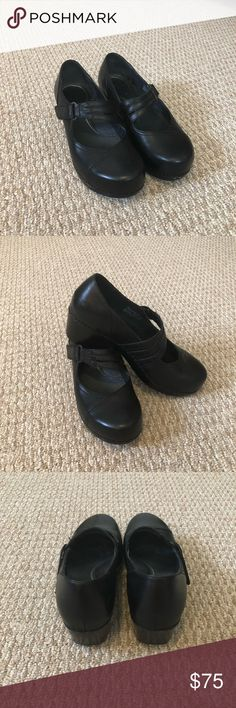 Black Dansko Mary Janes Super comfy, goes with anything, like new, no scuffing! Velcro closure. Dansko Shoes Mules & Clogs