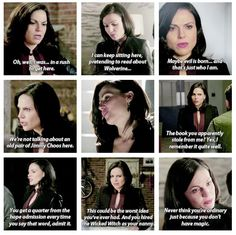 "Regina was on a roll in 4x08, but they left out the best part where she tells Robin that she ""owes someone a quarter."""
