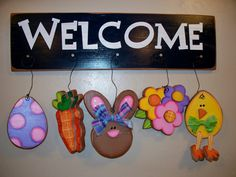 Easter Whimsical Welcomes by PrimitiveDesignsUtah on Etsy, $19.99