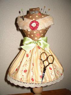Custom Listing for Alice0579 Dress Form Pin Cushion. $25,00, via Etsy.
