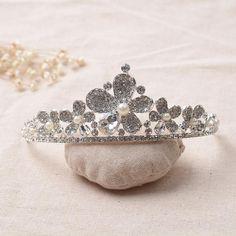 HG090 Princess Queen Tiara Wedding Crown Elegant Jewelry