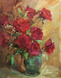 """Egyszerűen-vörösök""  by Barbara Schilling  Oil 18 x 14 .jpg (797×1024)"