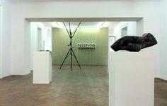 Projektraum Viktor Bucher - Eine Galerie mit hellen Wänden und charmantem Boden